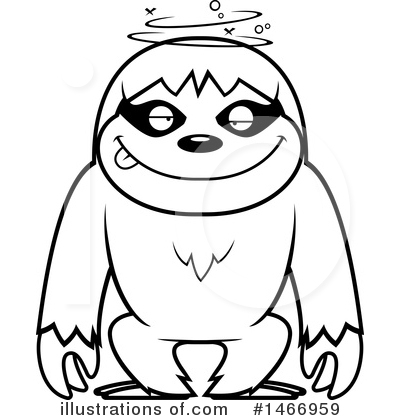 Sloth Clipart #1466959 by Cory Thoman