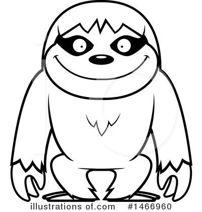Sloth Clipart #1466960 by Cory Thoman