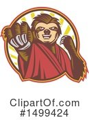 Royalty-Free (RF) Sloth Clipart Illustration #1499424