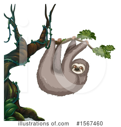 Sloth Clipart #1567460 by Graphics RF