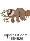 Sloth Clipart #1654525 by visekart
