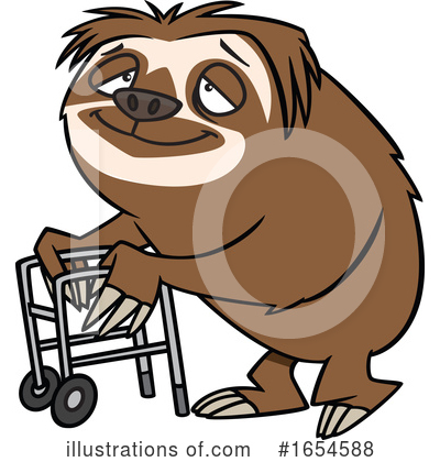 Royalty-Free (RF) Sloth Clipart Illustration by toonaday - Stock Sample #1654588