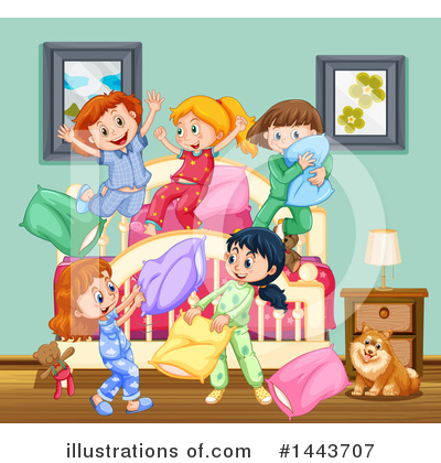 Pillow Fight Clipart #1443707 by Graphics RF