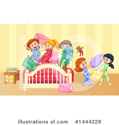 Pillow Fight Clipart #1444228 by Graphics RF