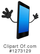 Smart Phone Character Clipart #1273129 by Julos