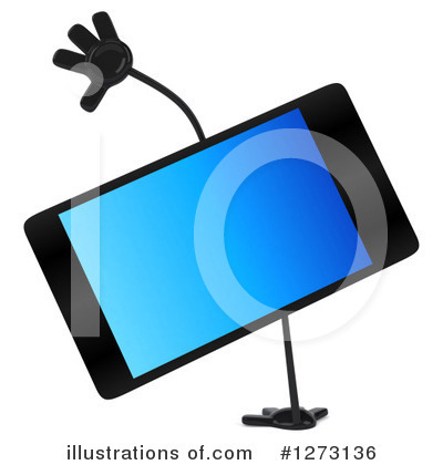 Smart Phone Character Clipart #1273136 by Julos