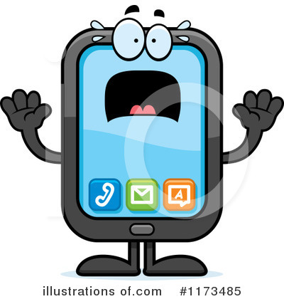 Smart Phone Clipart #1173485 by Cory Thoman