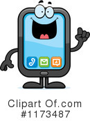 Royalty-Free (RF) smart phone Clipart Illustration #1173487