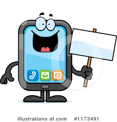 Smart Phone Clipart #1173491 by Cory Thoman