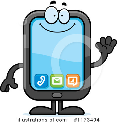 Smart Phone Clipart #1173494 by Cory Thoman