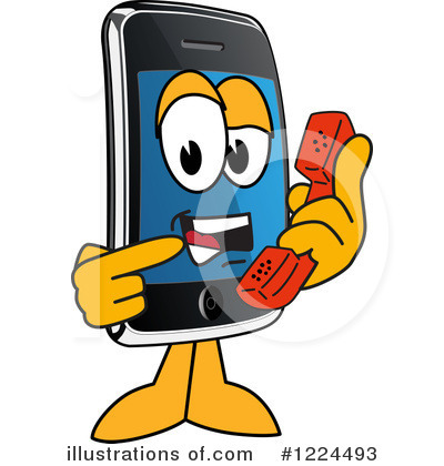 Smart Phone Clipart #1224493 by Toons4Biz