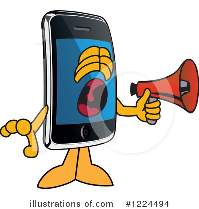 Smart Phone Clipart #1224494 by Toons4Biz