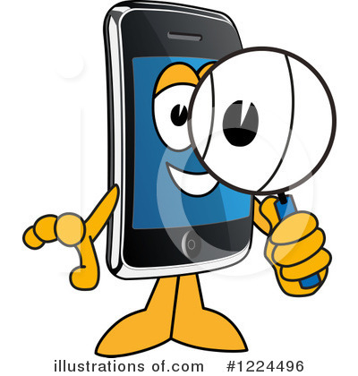 Smart Phone Clipart #1224496 by Toons4Biz