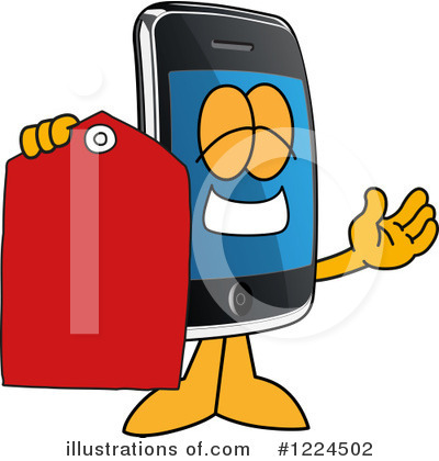 Smart Phone Clipart #1224502 by Toons4Biz
