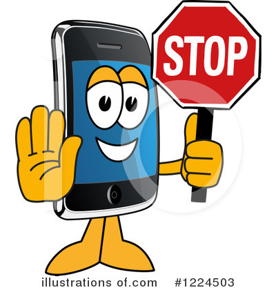 Smart Phone Clipart #1224503 by Toons4Biz