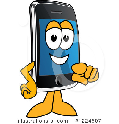Smart Phone Clipart #1224507 by Toons4Biz