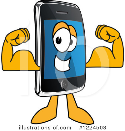 Smart Phone Clipart #1224508 by Toons4Biz