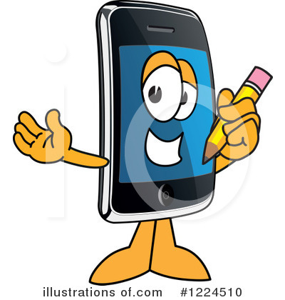 Smart Phone Clipart #1224510 by Toons4Biz