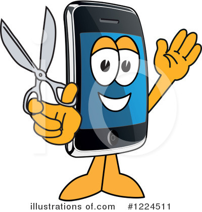 Smart Phone Clipart #1224511 by Toons4Biz