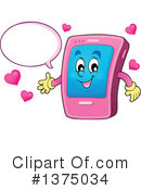 Royalty-Free (RF) Smart Phone Clipart Illustration #1375034
