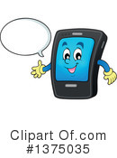 Royalty-Free (RF) Smart Phone Clipart Illustration #1375035