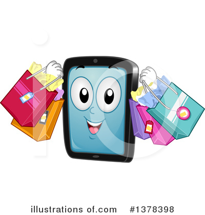Royalty-Free (RF) Smart Phone Clipart Illustration by BNP Design Studio - Stock Sample #1378398
