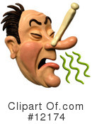 Royalty-Free (RF) Smell Clipart Illustration #12174