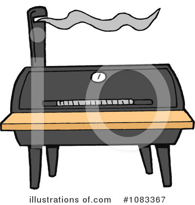 Bbq Smoker Clipart #1083367 by LaffToon