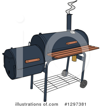 Bbq Smoker Clipart #1297381 by LaffToon
