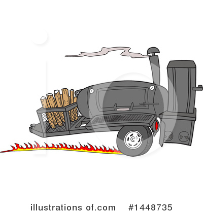 Bbq Smoker Clipart #1448735 by LaffToon