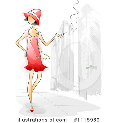 Flapper Clipart #1115989 by BNP Design Studio