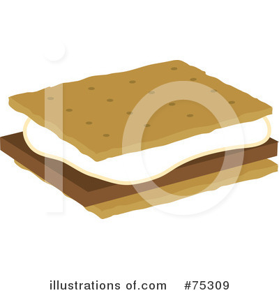 Royalty-Free (RF) Smores Clipart Illustration by Rosie Piter - Stock Sample #75309