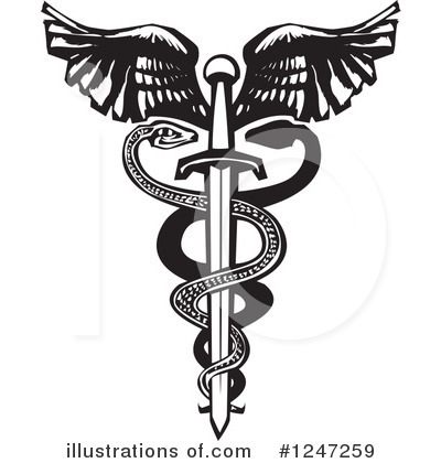 Caduceus Clipart #1247259 by xunantunich