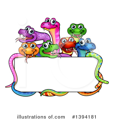 Snake Clipart #1394181 by AtStockIllustration