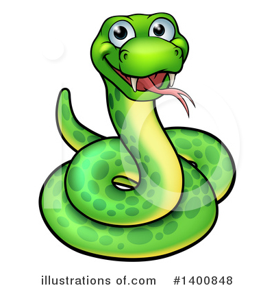 Snake Clipart #1400848 by AtStockIllustration