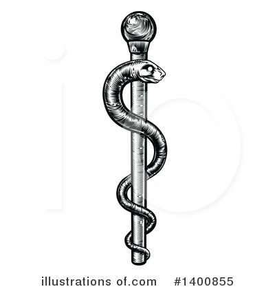 Caduceus Clipart #1400855 by AtStockIllustration