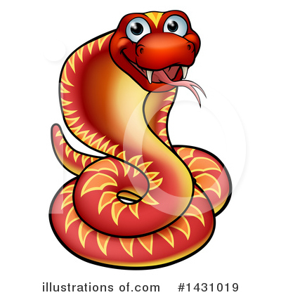 Snake Clipart #1431019 by AtStockIllustration