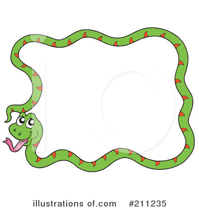 Royalty-Free (RF) Snake Clipart Illustration by visekart - Stock Sample #211235