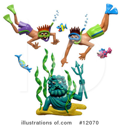 Royalty-Free (RF) Snorkel Clipart Illustration by Amy Vangsgard - Stock Sample #12070