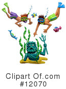 Royalty-Free (RF) snorkel Clipart Illustration #12070