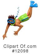 Royalty-Free (RF) Snorkel Clipart Illustration #12098