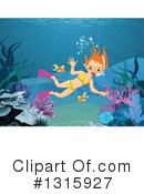 Royalty-Free (RF) Snorkel Clipart Illustration #1315927
