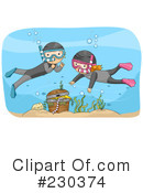Royalty-Free (RF) Snorkel Clipart Illustration #230374