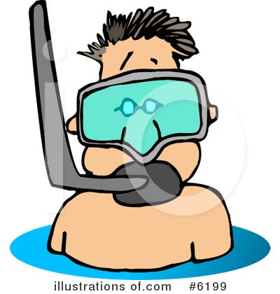 Royalty-Free (RF) Snorkel Clipart Illustration by Dennis Cox - Stock Sample #6199