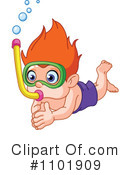 Royalty-Free (RF) Snorkeling Clipart Illustration #1101909