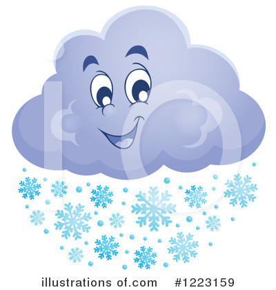 Royalty-Free (RF) Snow Clipart Illustration by visekart - Stock Sample #1223159