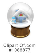 Royalty-Free (RF) Snow Globe Clipart Illustration #1086877