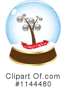 Royalty-Free (RF) Snow Globe Clipart Illustration #1144480