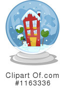 Royalty-Free (RF) Snow Globe Clipart Illustration #1163336
