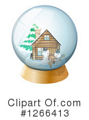Royalty-Free (RF) Snow Globe Clipart Illustration #1266413
